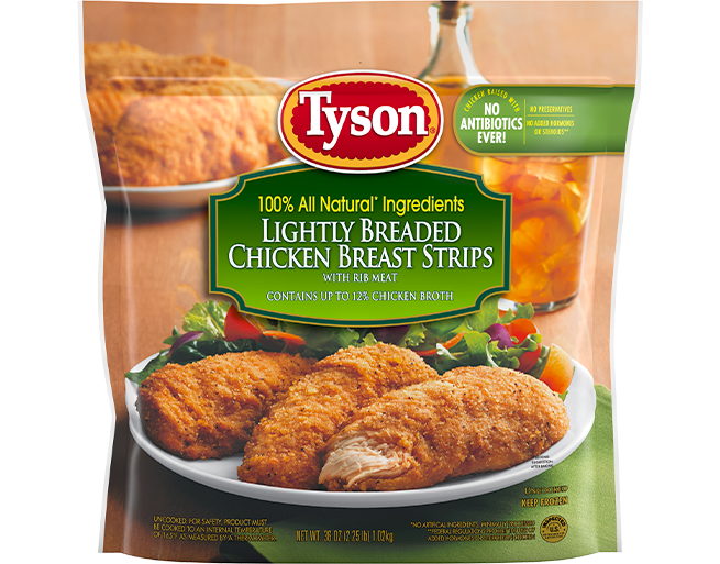 Lightly Breaded Chicken Breast Strips