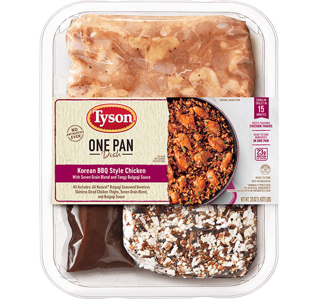 One Pan Dish Korean BBQ Style Chicken With Seven Grain Blend and Tangy Bulgogi Sauce Kit
