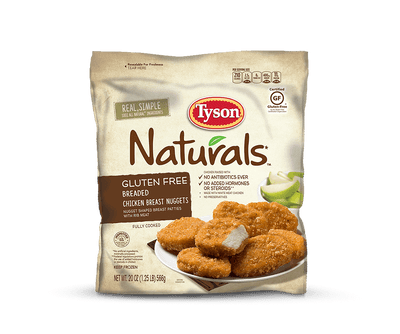 Gluten Free Breaded Chicken Breast Nuggets