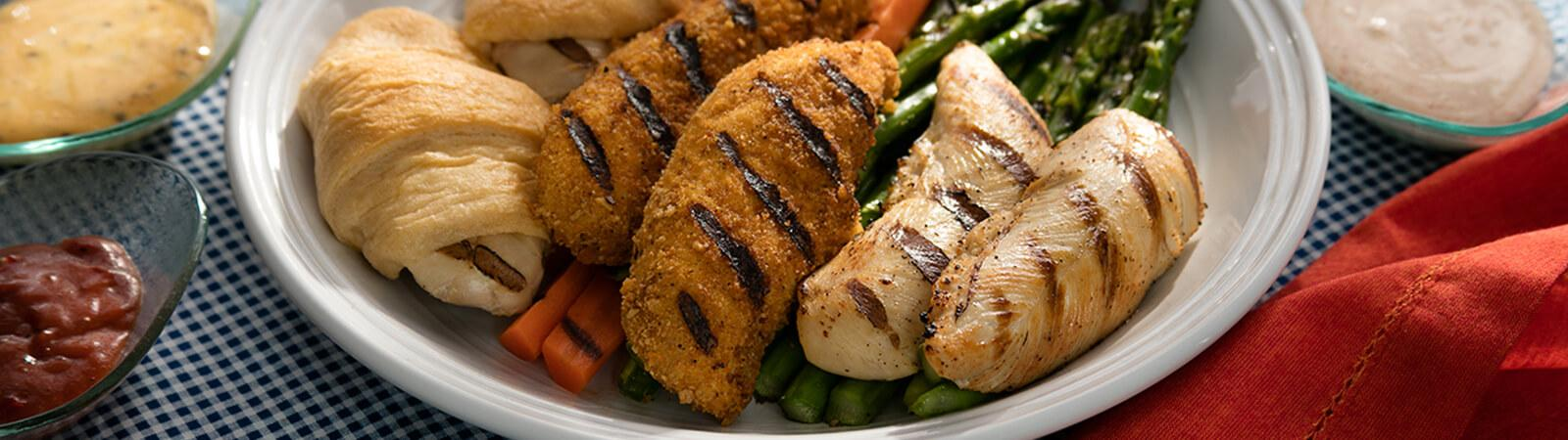 Grilled Chicken Tender Dippers