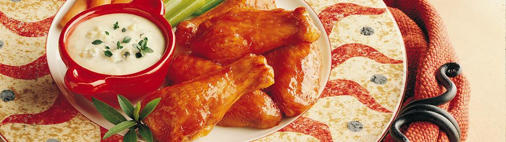 Saucy, Spicy Chicken Wings