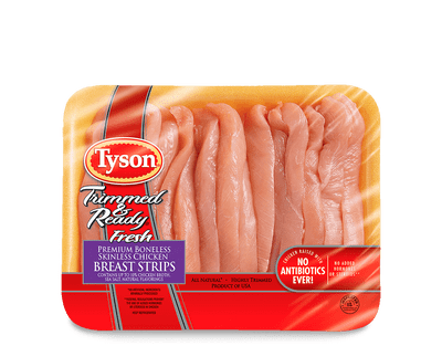 Fresh Trimmed & Ready® Boneless Skinless Chicken Breast Strips