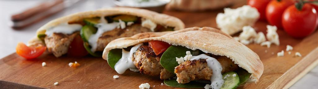 Mediterranean Ground Chicken Pita Pocket