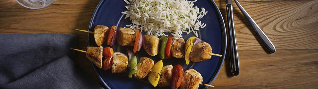 Yogurt Marinated Chicken Kabobs