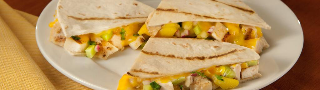 Grilled Aloha Chicken Quesadillas