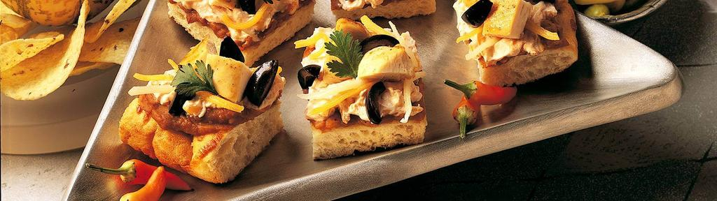 Easy Fiesta Chicken Appetizer Squares