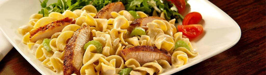 Chicken and Noodles with White Wine Sauce