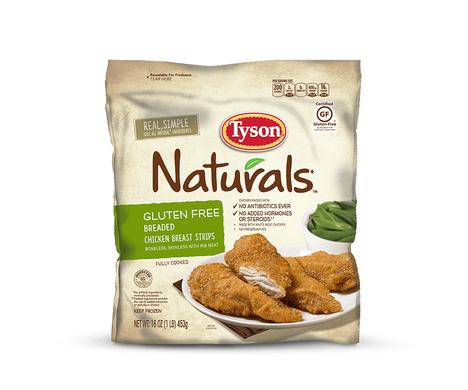 Gluten Free Breaded Chicken Breast Strips