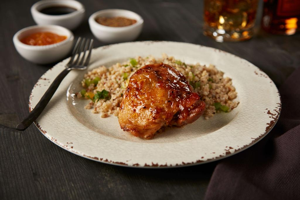 Orange Bourbon Chicken Thighs